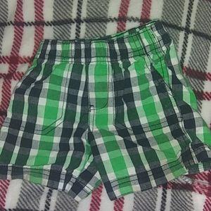 Boys plaid shorts size 12 months